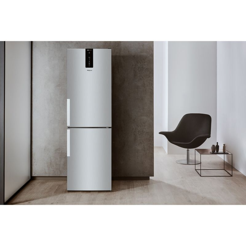 Whirlpool-Combine-refrigerateur-congelateur-Pose-libre-W7-821O-OX-H-Optic-Inox-2-portes-Lifestyle-frontal