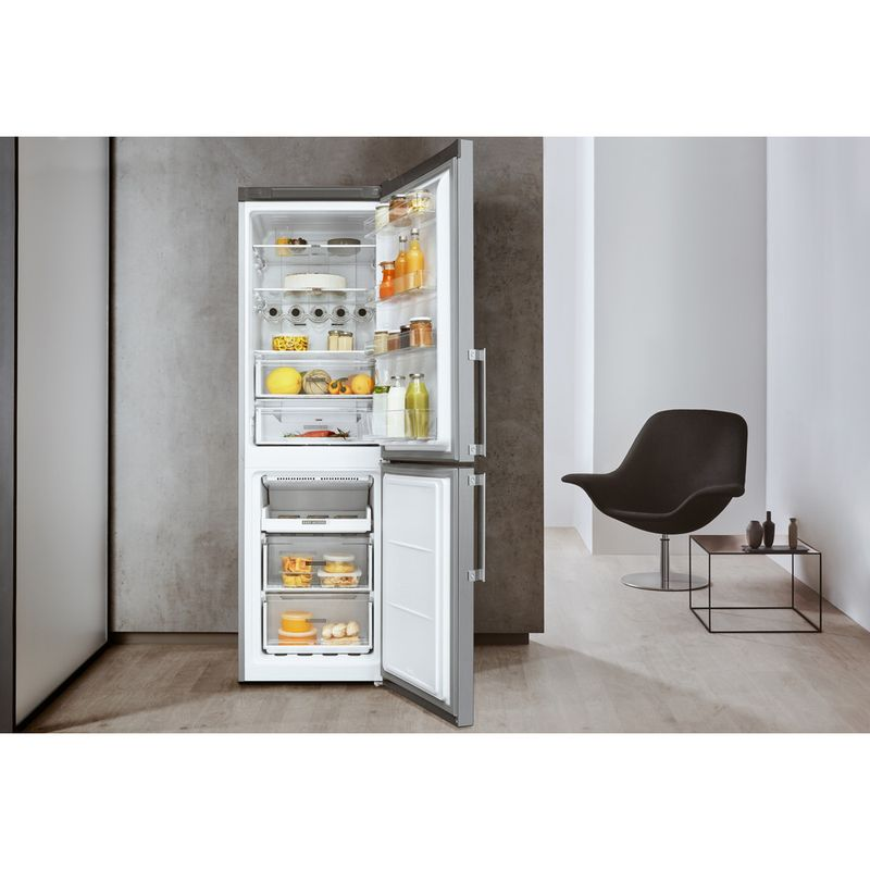 Whirlpool-Combine-refrigerateur-congelateur-Pose-libre-W7-821O-OX-H-Optic-Inox-2-portes-Lifestyle-frontal-open