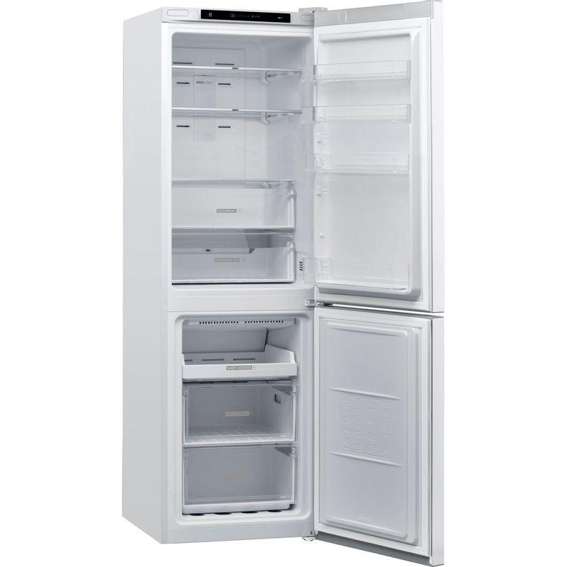Whirlpool-Combine-refrigerateur-congelateur-Pose-libre-W7-821I-W-Blanc-2-portes-Perspective-open
