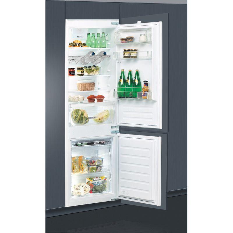 Whirlpool-Combine-refrigerateur-congelateur-Encastrable-ART-66122-Blanc-2-portes-Perspective-open