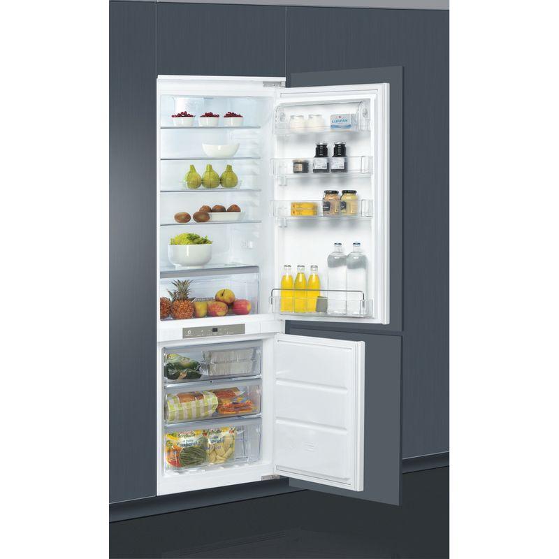 Whirlpool-Combine-refrigerateur-congelateur-Encastrable-ART-890-A---NF-Blanc-2-portes-Perspective-open