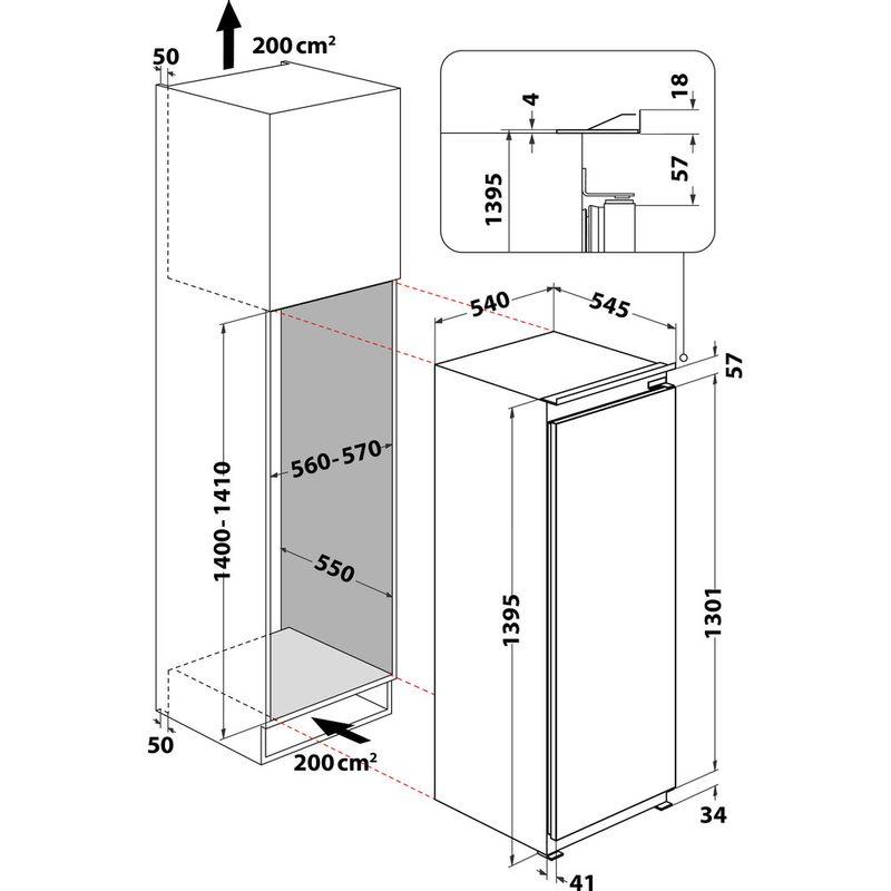 Whirlpool-Refrigerateur-Encastrable-ARG-8161-Acier-Technical-drawing