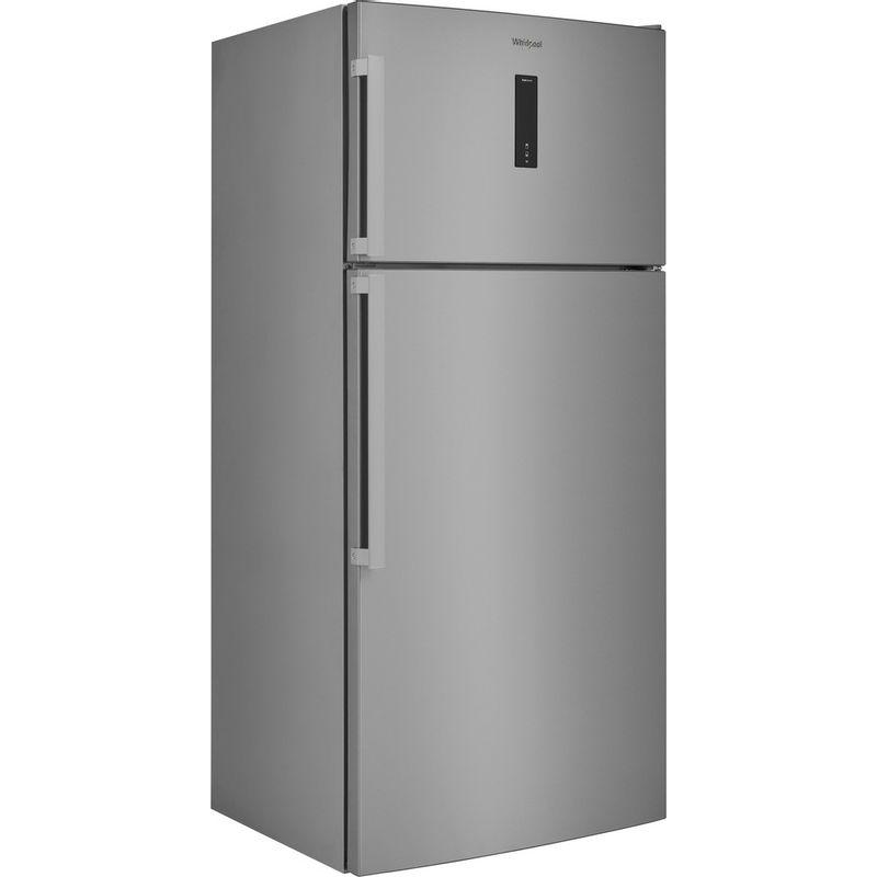 Whirlpool-Combine-refrigerateur-congelateur-Pose-libre-W84TE-72-X-2-Inox-2-portes-Perspective