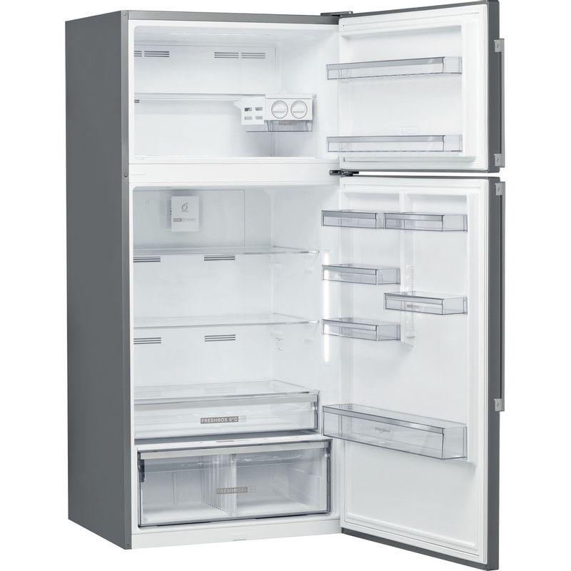 Whirlpool-Combine-refrigerateur-congelateur-Pose-libre-W84TE-72-X-2-Inox-2-portes-Perspective-open