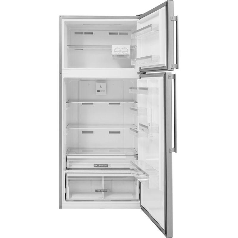 Whirlpool-Combine-refrigerateur-congelateur-Pose-libre-W84TE-72-X-2-Inox-2-portes-Frontal-open