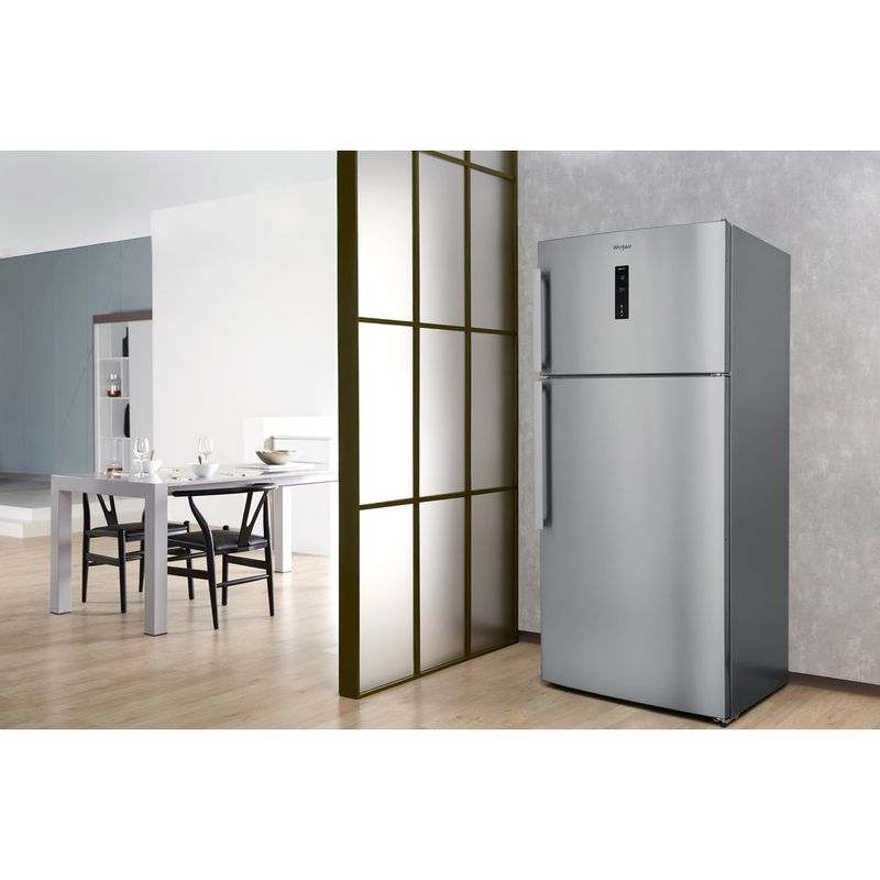 Whirlpool-Combine-refrigerateur-congelateur-Pose-libre-W84TE-72-X-2-Inox-2-portes-Lifestyle-perspective