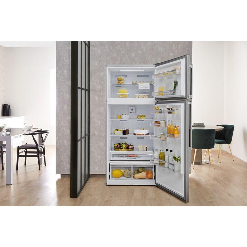 Whirlpool-Combine-refrigerateur-congelateur-Pose-libre-W84TE-72-X-2-Inox-2-portes-Lifestyle-frontal-open