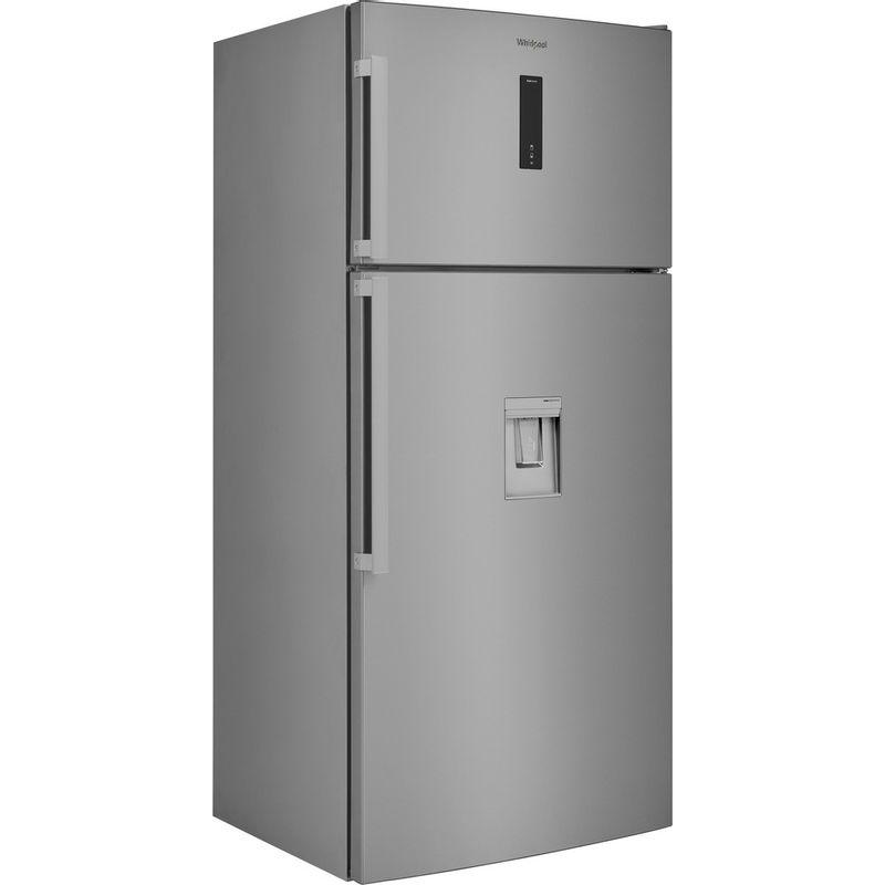 Whirlpool-Combine-refrigerateur-congelateur-Pose-libre-W84TE-72-X-AQUA-2-Inox-2-portes-Perspective