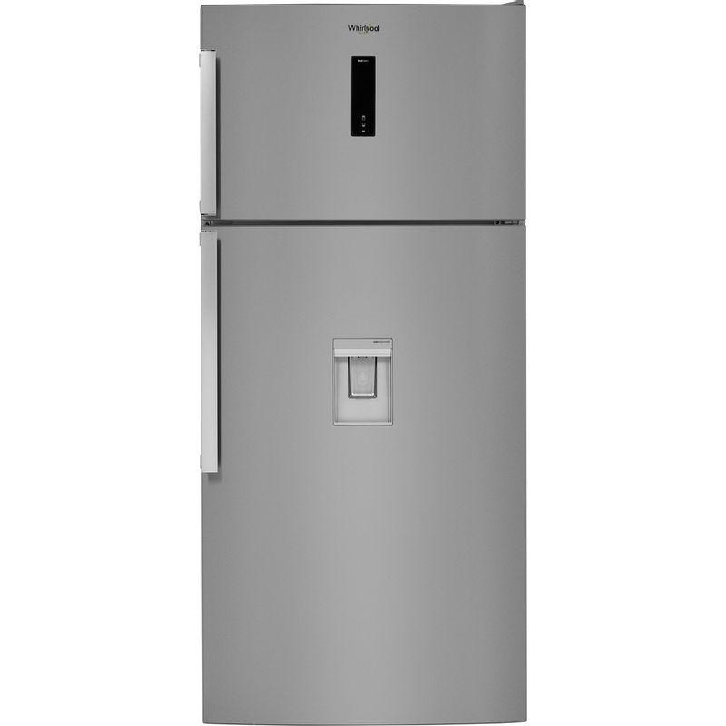 Whirlpool-Combine-refrigerateur-congelateur-Pose-libre-W84TE-72-X-AQUA-2-Inox-2-portes-Frontal
