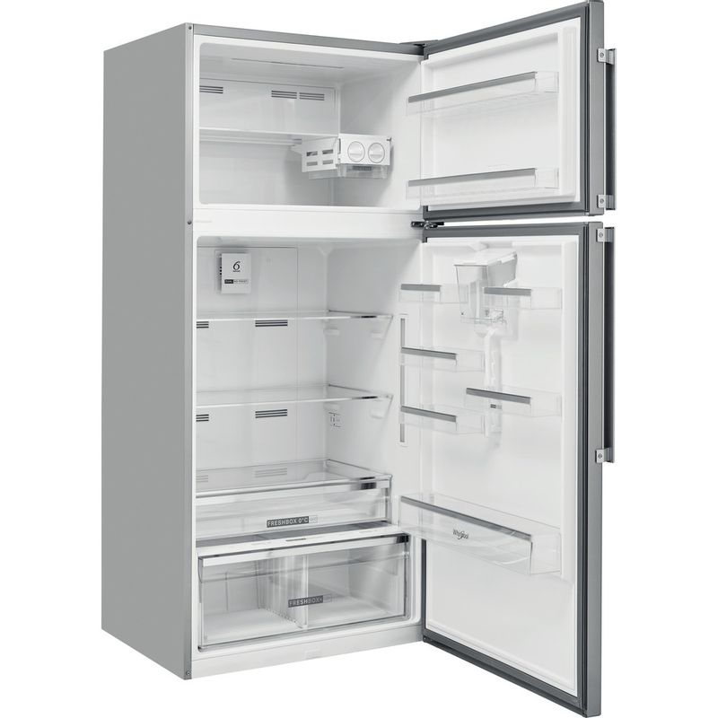 Whirlpool-Combine-refrigerateur-congelateur-Pose-libre-W84TE-72-X-AQUA-2-Inox-2-portes-Perspective-open