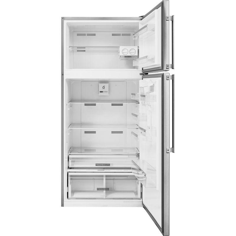 Whirlpool-Combine-refrigerateur-congelateur-Pose-libre-W84TE-72-X-AQUA-2-Inox-2-portes-Frontal-open