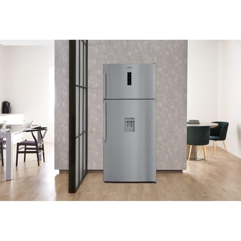Whirlpool-Combine-refrigerateur-congelateur-Pose-libre-W84TE-72-X-AQUA-2-Inox-2-portes-Lifestyle-frontal