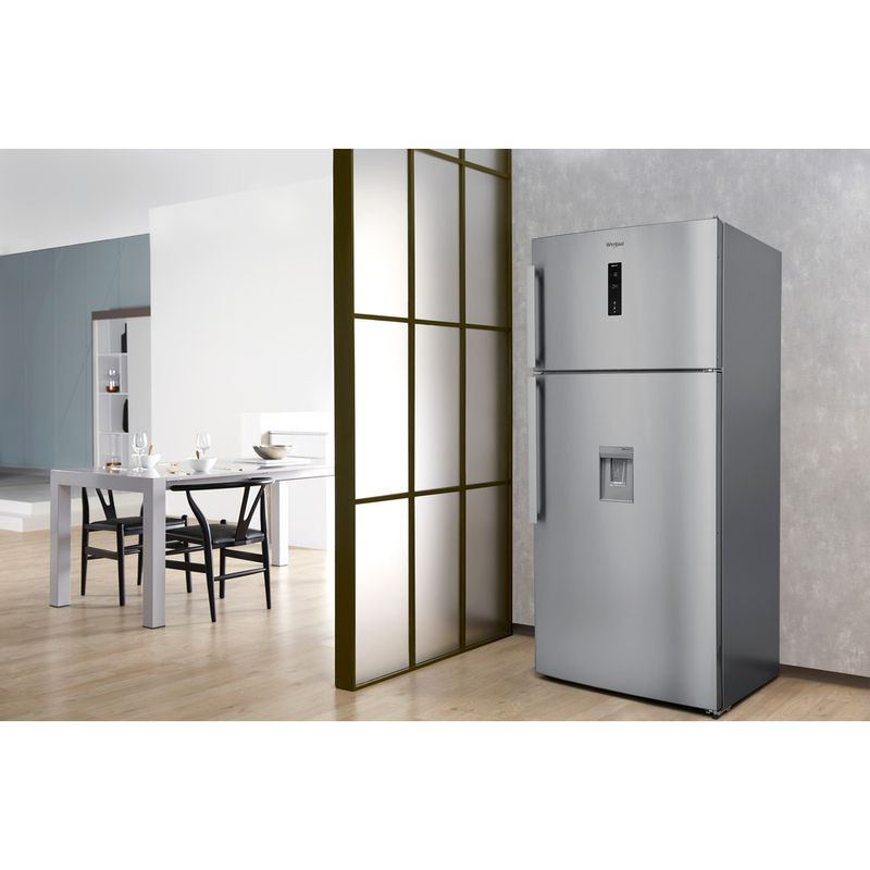 Whirlpool-Combine-refrigerateur-congelateur-Pose-libre-W84TE-72-X-AQUA-2-Inox-2-portes-Lifestyle-perspective