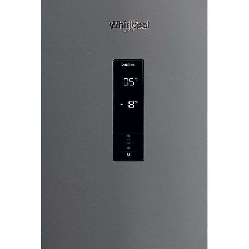 Whirlpool-Combine-refrigerateur-congelateur-Pose-libre-W84BE-72-X-2-Inox-2-portes-Control-panel