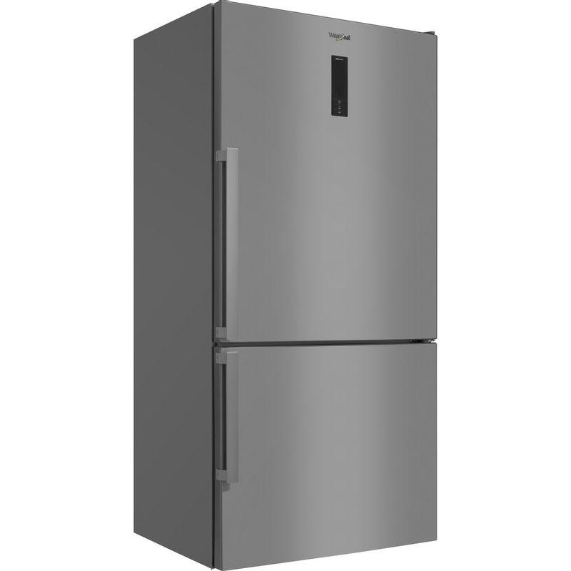 Whirlpool-Combine-refrigerateur-congelateur-Pose-libre-W84BE-72-X-2-Inox-2-portes-Perspective