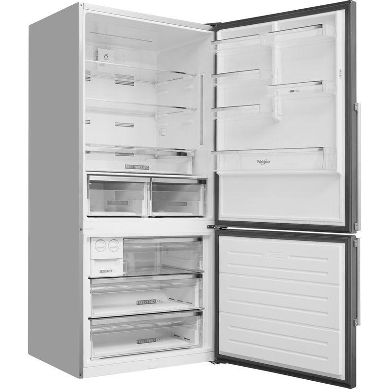 Whirlpool-Combine-refrigerateur-congelateur-Pose-libre-W84BE-72-X-2-Inox-2-portes-Perspective-open
