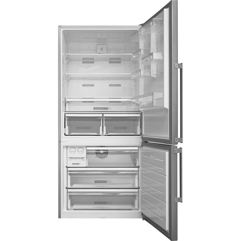 Whirlpool-Combine-refrigerateur-congelateur-Pose-libre-W84BE-72-X-2-Inox-2-portes-Frontal-open