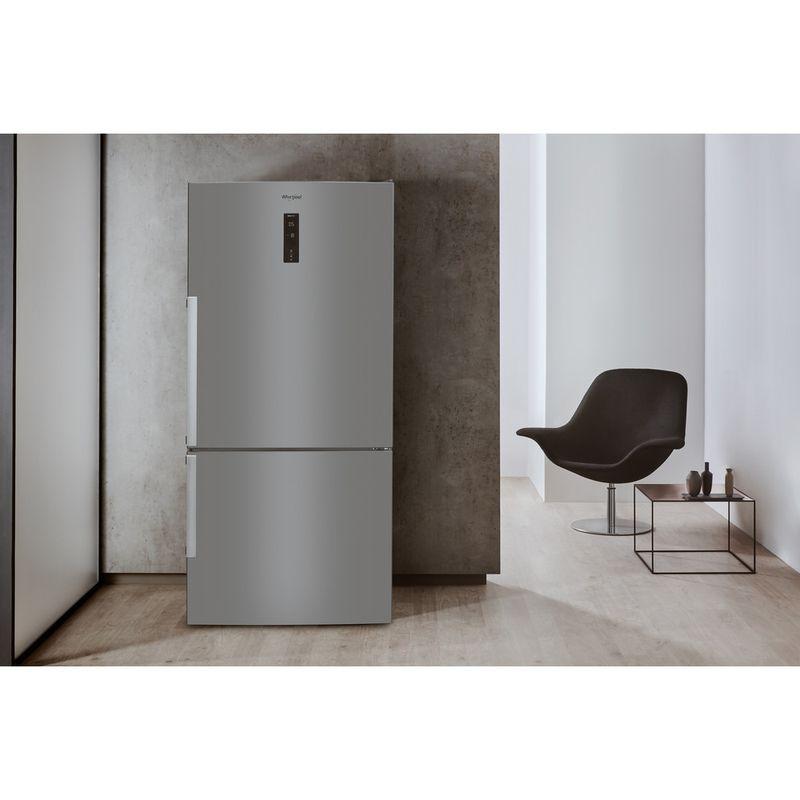 Whirlpool-Combine-refrigerateur-congelateur-Pose-libre-W84BE-72-X-2-Inox-2-portes-Lifestyle-frontal