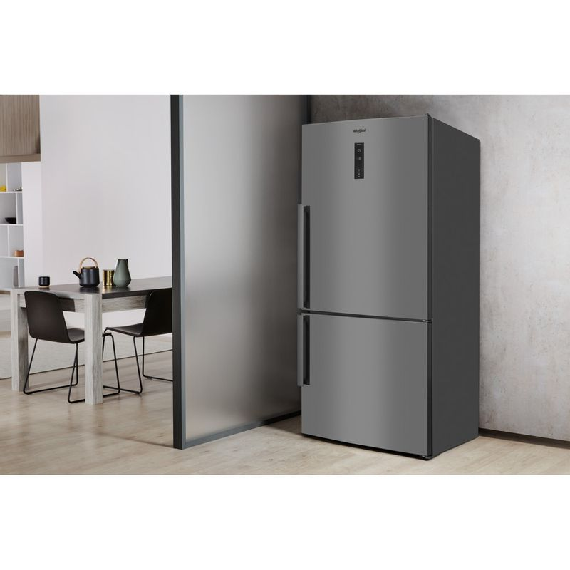 Whirlpool-Combine-refrigerateur-congelateur-Pose-libre-W84BE-72-X-2-Inox-2-portes-Lifestyle-perspective