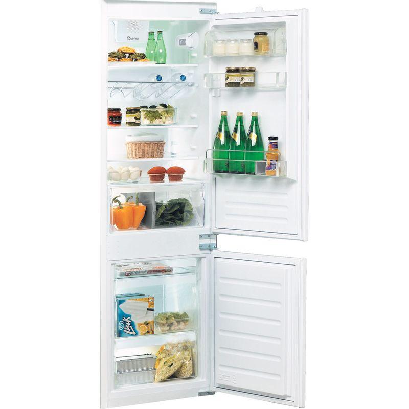 Whirlpool-Combine-refrigerateur-congelateur-Encastrable-ART-6614-SF1-Blanc-2-portes-Perspective-open