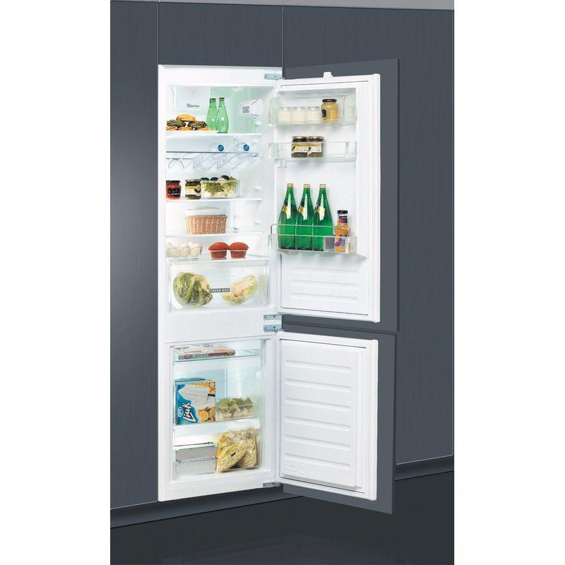 Whirlpool-Combine-refrigerateur-congelateur-Encastrable-ART-6614-SF1-Blanc-2-portes-Lifestyle-perspective-open
