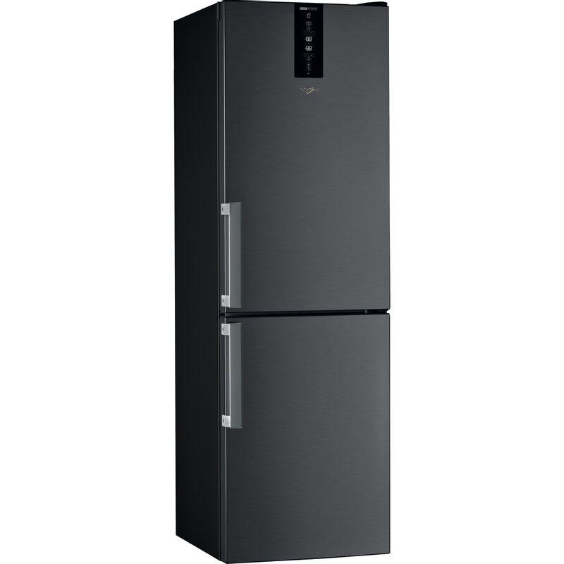 Whirlpool-Combine-refrigerateur-congelateur-Pose-libre-W7-831T-KS-H-Noir-Inox-2-portes-Perspective