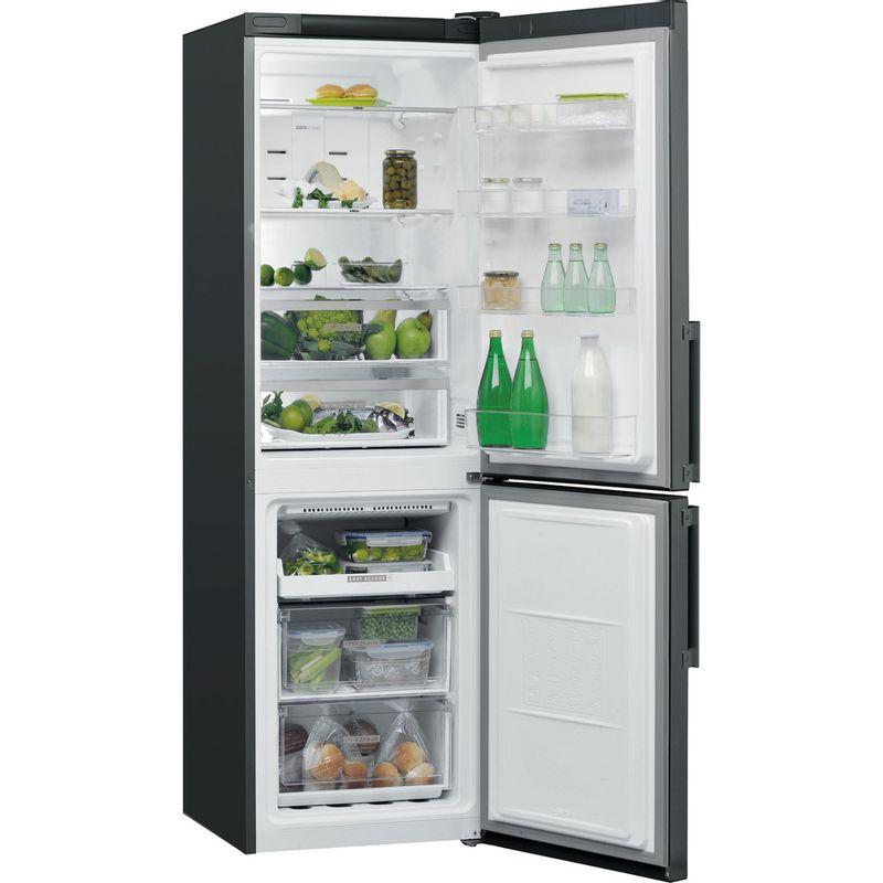 Whirlpool-Combine-refrigerateur-congelateur-Pose-libre-W7-831T-KS-H-Noir-Inox-2-portes-Perspective-open