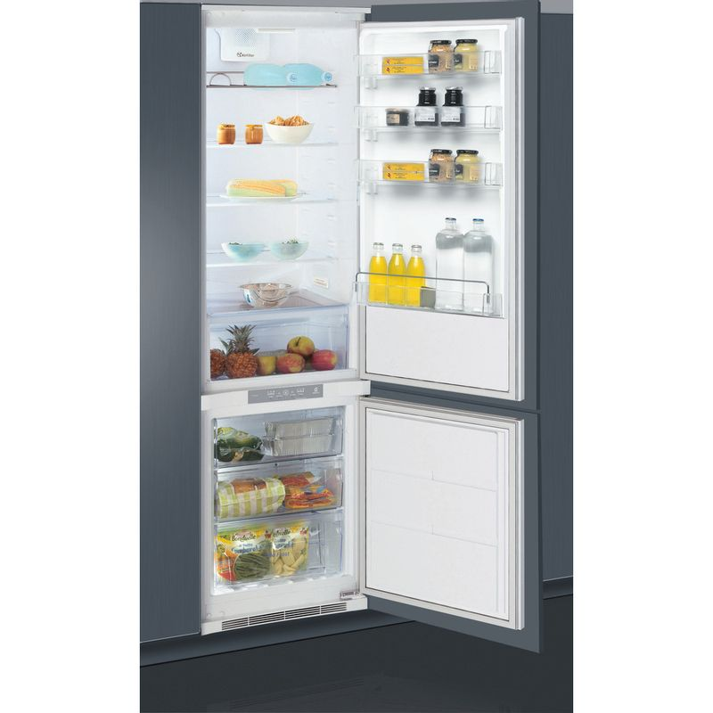 Whirlpool-Combine-refrigerateur-congelateur-Encastrable-ART-9620-A--NF-Blanc-2-portes-Perspective-open