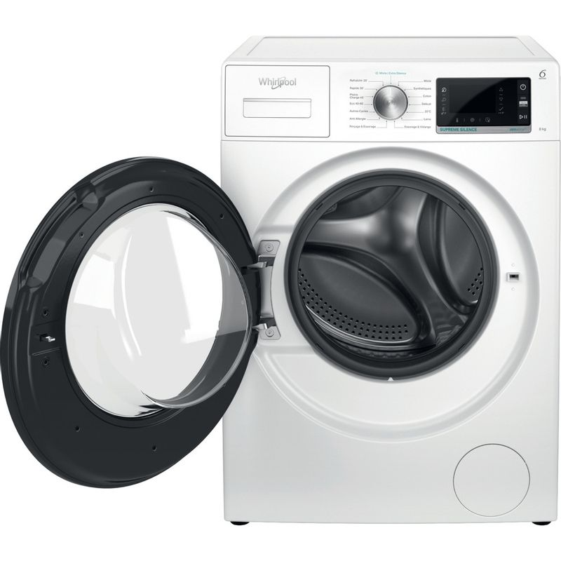 Whirlpool-Lave-linge-Pose-libre-W6-W845WB-FR-Blanc-Lave-linge-frontal-B-Frontal-open