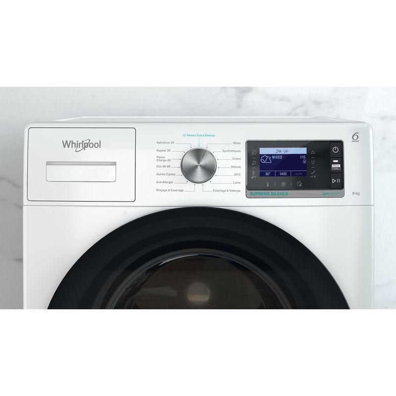 Whirlpool-Lave-linge-Pose-libre-W6-W845WB-FR-Blanc-Lave-linge-frontal-B-Control-panel