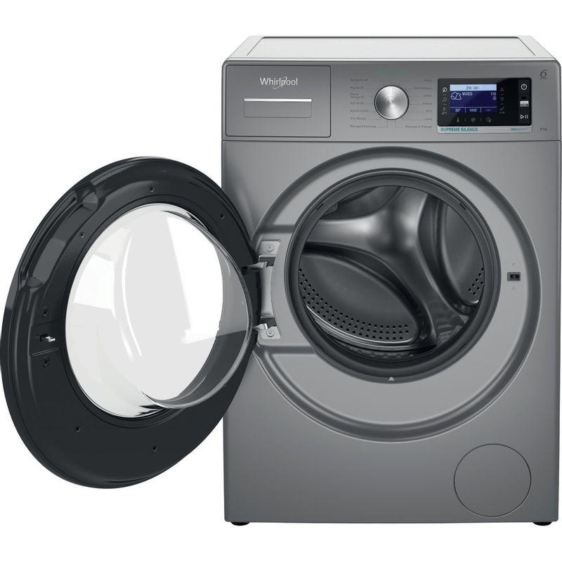 Whirlpool-Lave-linge-Pose-libre-W6-W845SB-FR-Argent-Lave-linge-frontal-B-Frontal-open