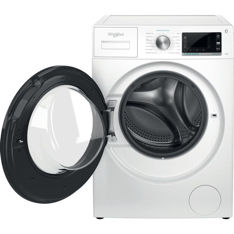 Whirlpool-Lave-linge-Pose-libre-W6-W945WB-FR-Blanc-Lave-linge-frontal-B-Frontal-open