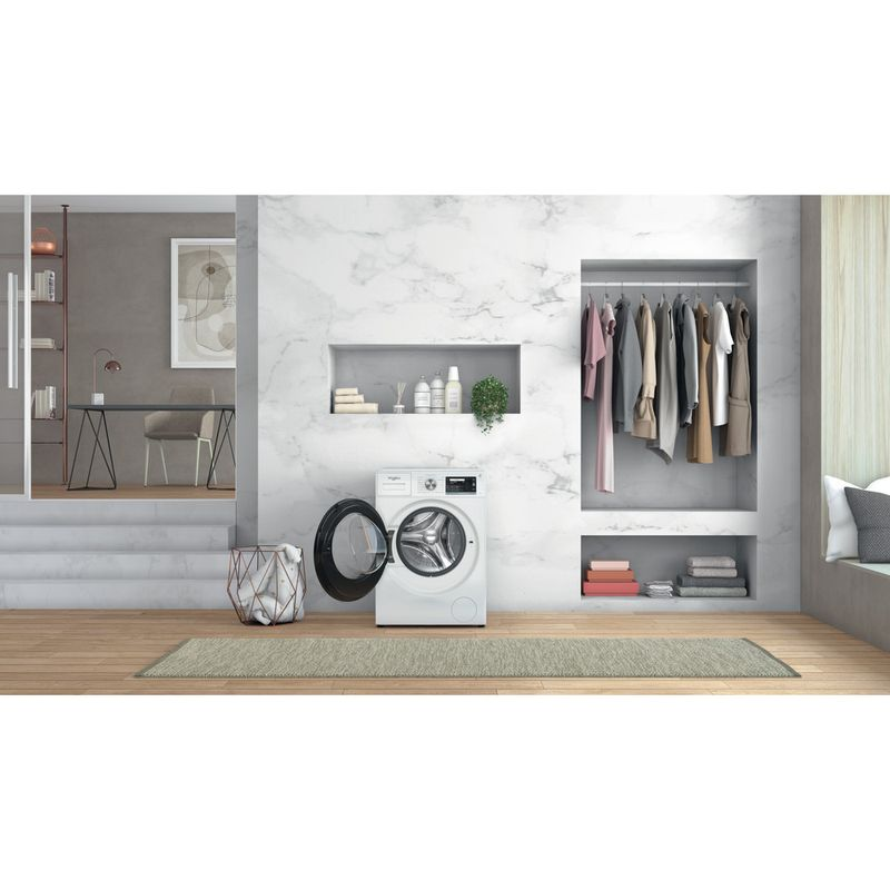 Whirlpool-Lave-linge-Pose-libre-W6-W945WB-FR-Blanc-Lave-linge-frontal-B-Lifestyle-frontal-open