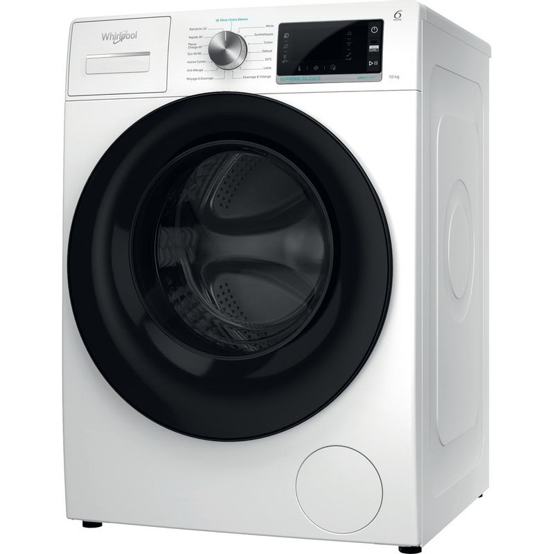 Whirlpool-Lave-linge-Pose-libre-W6-W045WB-FR-Blanc-Lave-linge-frontal-B-Perspective