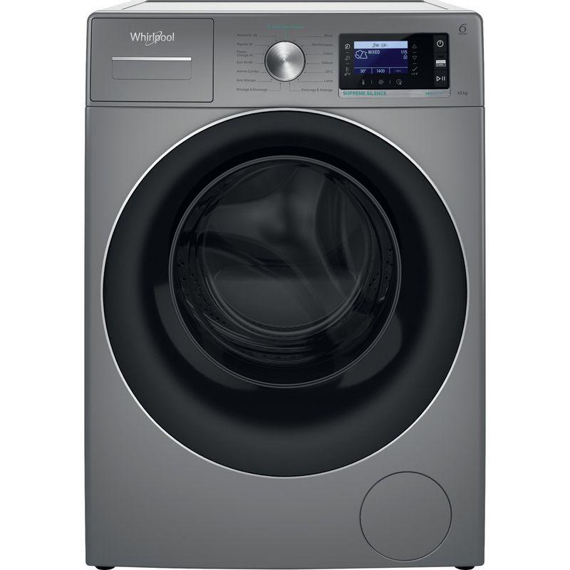 Whirlpool-Lave-linge-Pose-libre-W6-W045SR-FR-Argent-Lave-linge-frontal-B-Frontal
