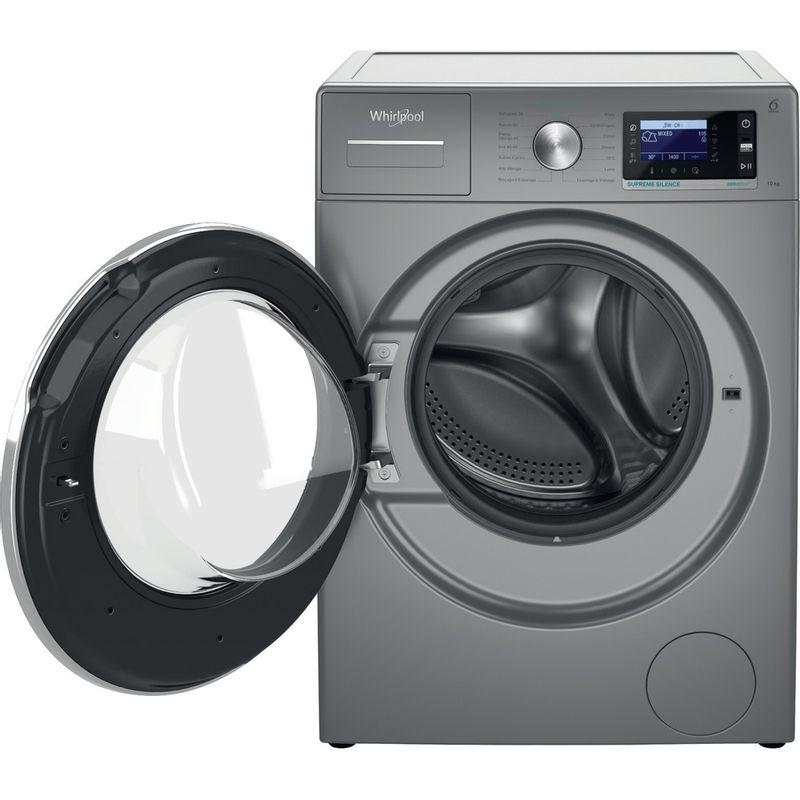 Whirlpool-Lave-linge-Pose-libre-W6-W045SR-FR-Argent-Lave-linge-frontal-B-Frontal-open