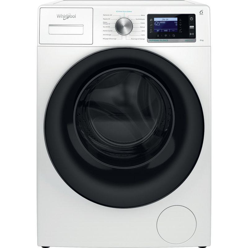 Whirlpool-Lave-linge-Pose-libre-W6X-W845WB-FR-Blanc-Lave-linge-frontal-B-Frontal