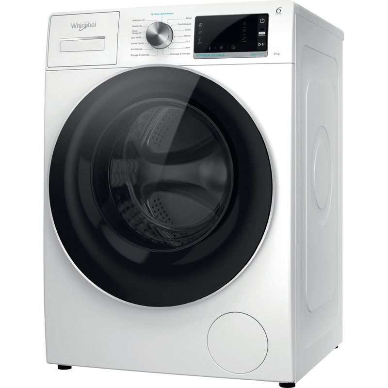 Whirlpool-Lave-linge-Pose-libre-W6X-W845WR-FR-Blanc-Lave-linge-frontal-B-Perspective