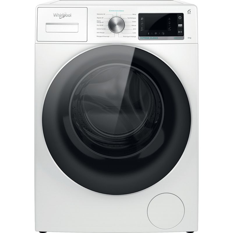 Whirlpool-Lave-linge-Pose-libre-W6X-W845WR-FR-Blanc-Lave-linge-frontal-B-Frontal