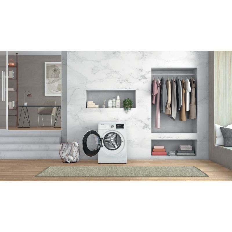 Whirlpool-Lave-linge-Pose-libre-W6X-W845WR-FR-Blanc-Lave-linge-frontal-B-Lifestyle-frontal-open