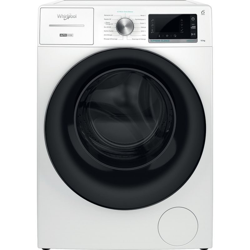 Whirlpool-Lave-linge-Pose-libre-W8-W046WB-FR-Blanc-Lave-linge-frontal-A-Frontal