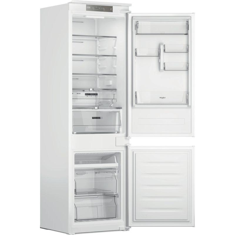 Whirlpool-Combine-refrigerateur-congelateur-Encastrable-WHC18-T323-P-Blanc-2-portes-Perspective-open
