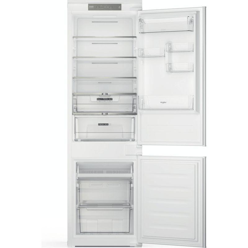 Whirlpool-Combine-refrigerateur-congelateur-Encastrable-WHC18-T323-P-Blanc-2-portes-Frontal-open