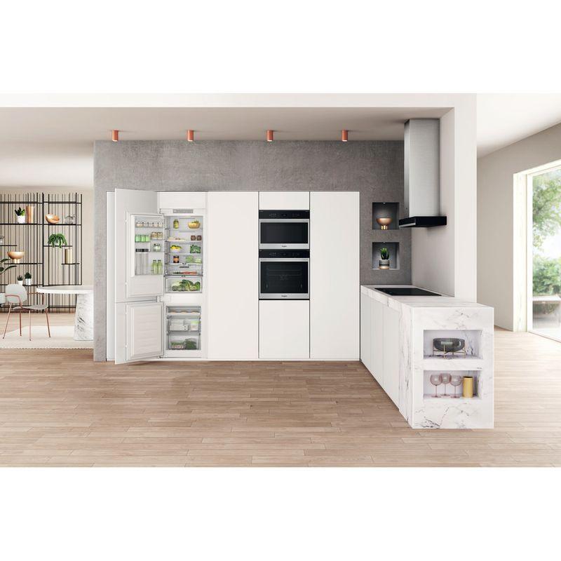 Whirlpool-Combine-refrigerateur-congelateur-Encastrable-WHC18-T323-P-Blanc-2-portes-Lifestyle-frontal-open