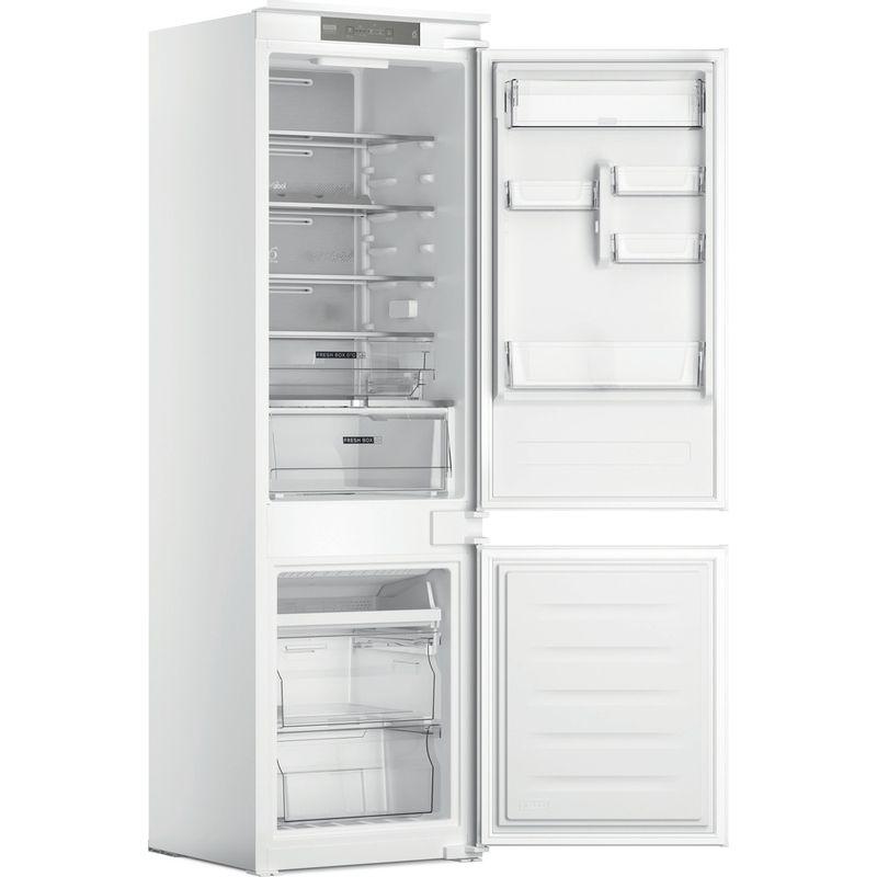 Whirlpool-Combine-refrigerateur-congelateur-Encastrable-WHC18-T332-P-Blanc-2-portes-Perspective-open