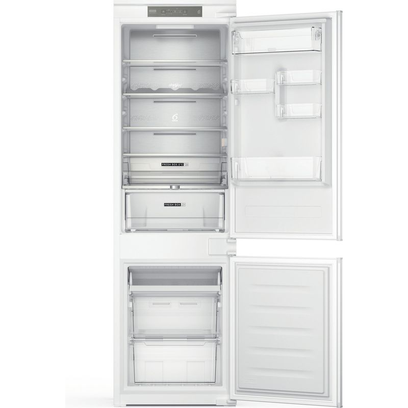 Whirlpool-Combine-refrigerateur-congelateur-Encastrable-WHC18-T332-P-Blanc-2-portes-Frontal-open