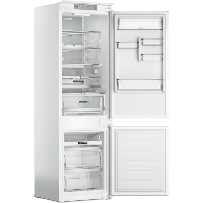 Whirlpool-Combine-refrigerateur-congelateur-Encastrable-WHC18-T574-P-Blanc-2-portes-Perspective-open