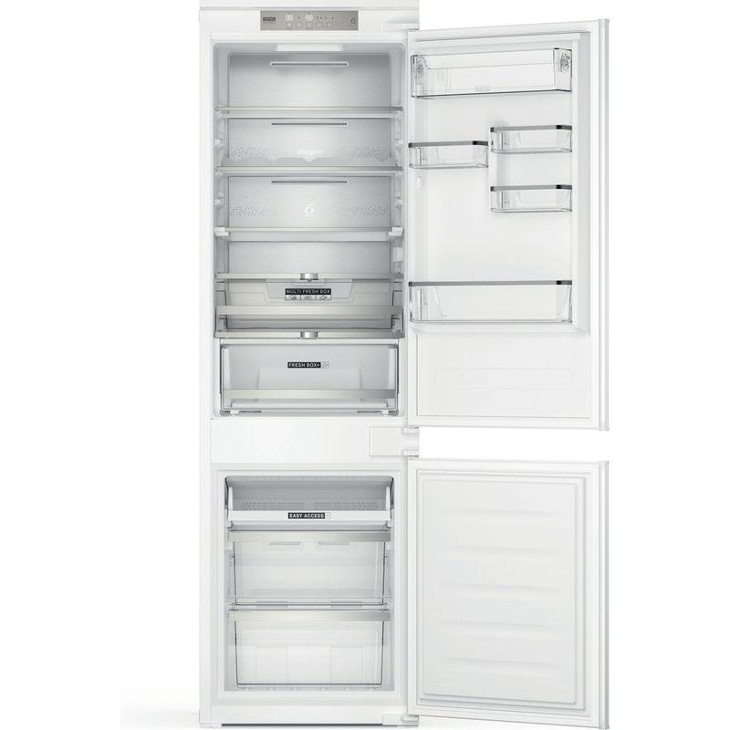 Whirlpool-Combine-refrigerateur-congelateur-Encastrable-WHC18-T574-P-Blanc-2-portes-Frontal-open