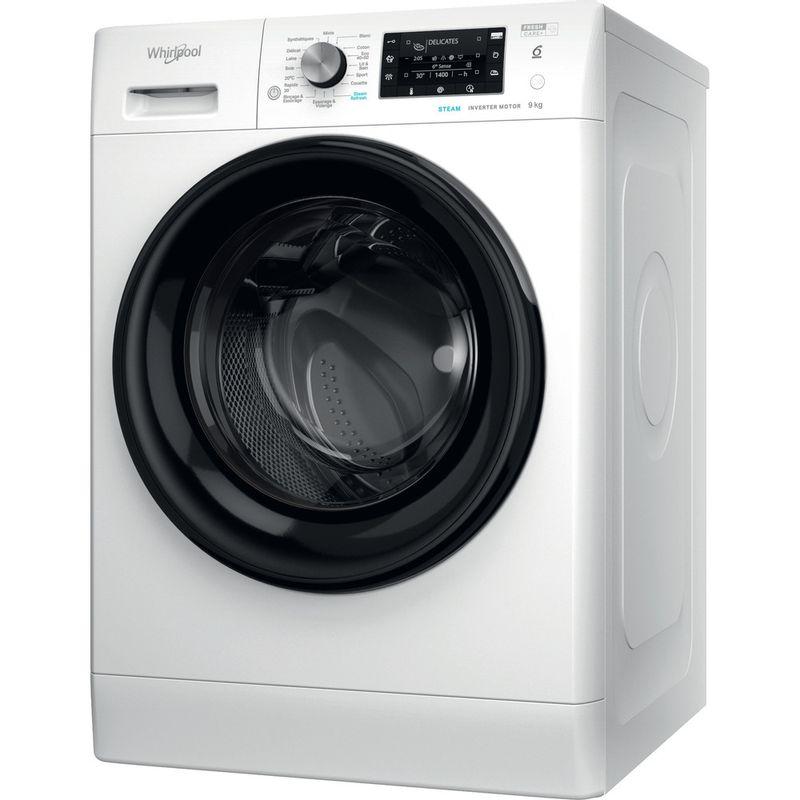 Whirlpool-Lave-linge-Pose-libre-FFDB-9458-BV-FR-Blanc-Lave-linge-frontal-B-Perspective