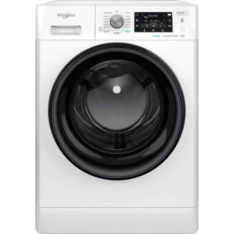 Whirlpool-Lave-linge-Pose-libre-FFDB-9458-BV-FR-Blanc-Lave-linge-frontal-B-Frontal